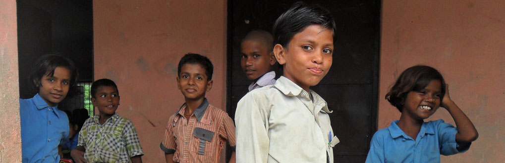 Students in Bihar, India.